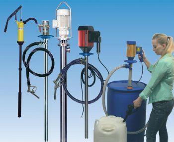 Jessberger tilbyder et komplet program af elektriske og pneumatiske drevne fadpumper og beholderpumper
